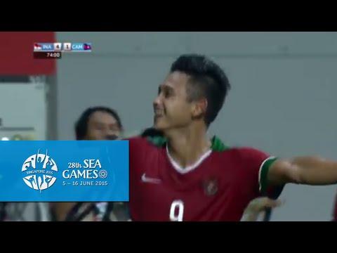 Football full match highlights Indonesia vs Cambodia | 28th SEA Games Singapore 2015