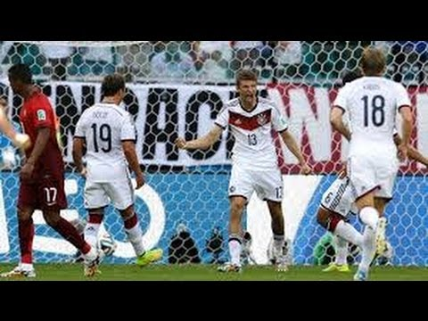 GERMANY 2  VS GHANA 2, FIFA WORLD CUP 2014 BRAZIL:  MATCH HIGHLIGHTS