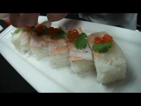 How to Make Oshi Style Shrimp Sushi - How To Make Sushi Series