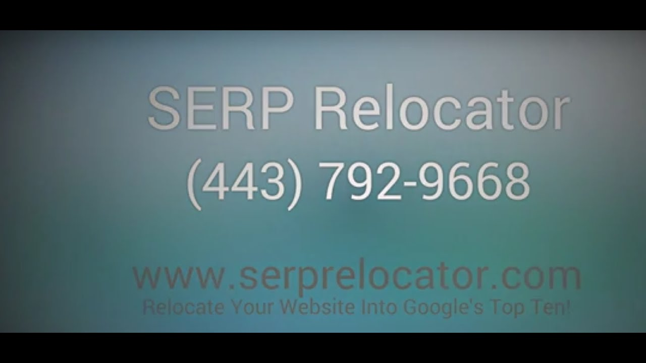 [Annapolis SEO Company - SERP Relocator | Get TOP 10 Rankings...] Video