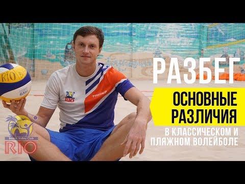 Разбег в волейболе. Отличие разбега в пляжном и классическом волейболе