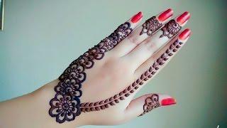 Arabic Henna   Henna Tutorial   Gulf Style Henna   Tattoo Henna   Flower Mehndi - Naush Artistica