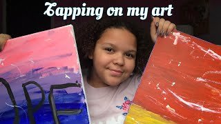 ASMR- scratching my art work 💕😽