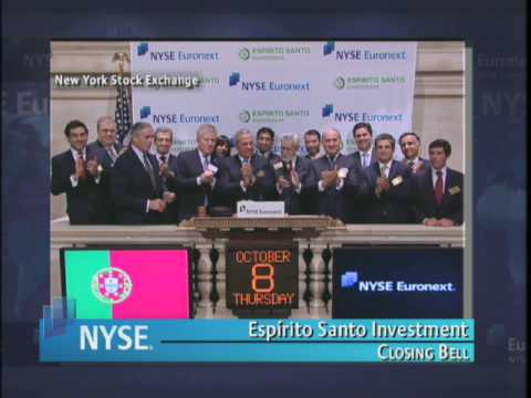 8 October 2009 NYSE Closing Bell Banco Espirito Santo Investment