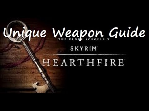 Skyrim: Hearthfire DLC Unique weapon guide: Wooden Sword.