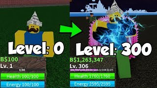 Noob To Master! I Reached Level 300! Defeat All Bosses - Blox Piece