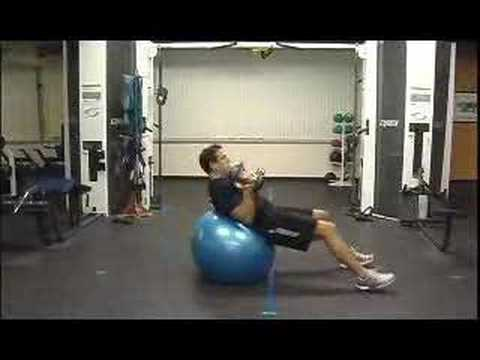 Swiss Ball (SB) Chest Press (Alternating)