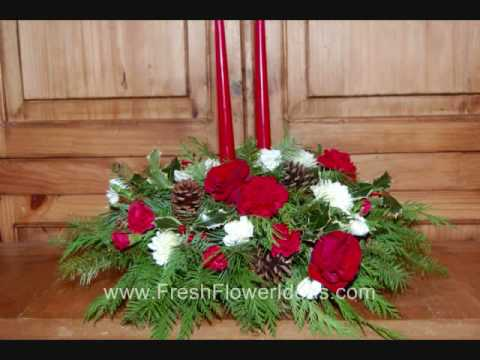 How To Make A Christmas Centerpiece With Fresh Flowers