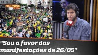 Caio Coppolla apoia as manifestações de 26 de maio. E comparecerá