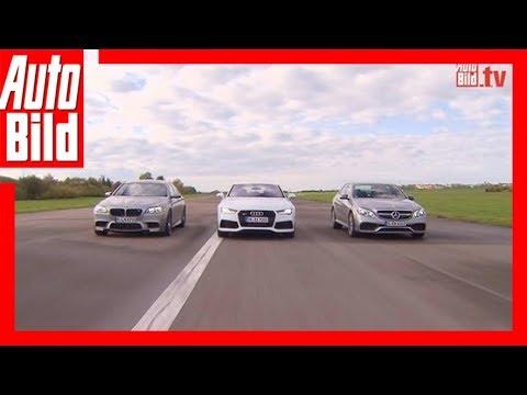 Ringkampf: BMW M5 vs. Audi RS7 Sportback vs. Mercedes E 63 AMG S (2014)