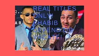 Tony Ferguson vs Max Holloway title fight. Khabib, defend or vacate! Also Daniel Cormier's opponent