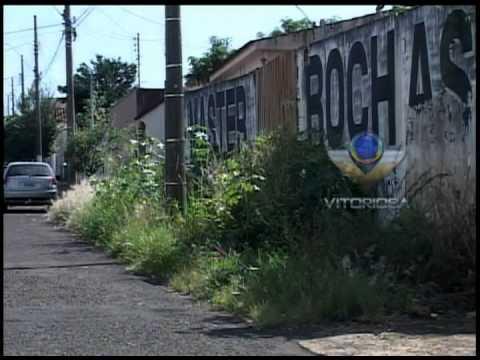 Mato em terreno no bairro Martins chega até a rua