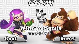 GGSW 117 - Goof (Inkling) Vs Runes (Donkey Kong) Smash Ultimate Winners Semis