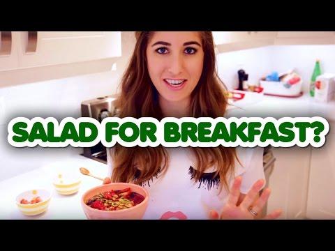 Salad For Breakfast? Tasty, Healthy Smoothie Bowl Recipe! (Melissa Maker)