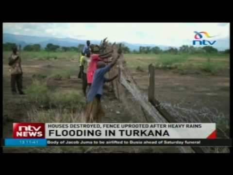 Houses destroyed, fence uprooted after heavy rains and flooding in Turkana East