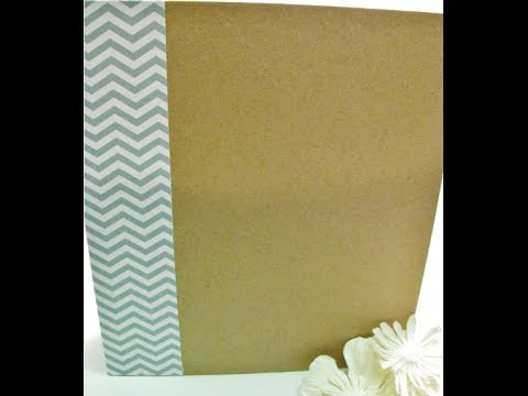 Handmade smash book tutorial (my take on the 3 ring binder by Basicgrey)