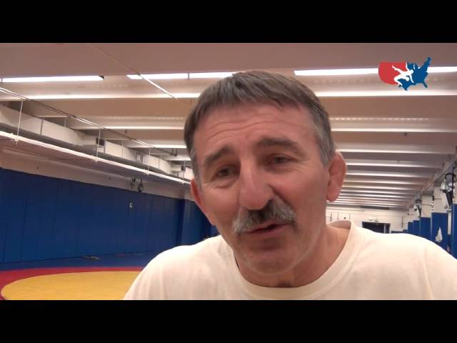 Coach Momir Petkovic after combined GR/FS practice at USOTC