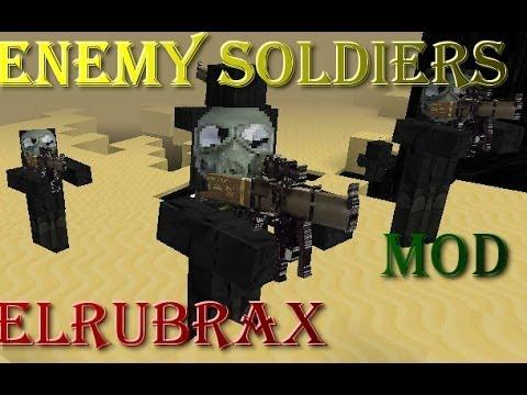 MINECRAFT REVIEW MOD ARMAS Y SOLDADOS (Enemy Soldiers) PARA LA 1.7.2/1.6.4 ESPAÑOL