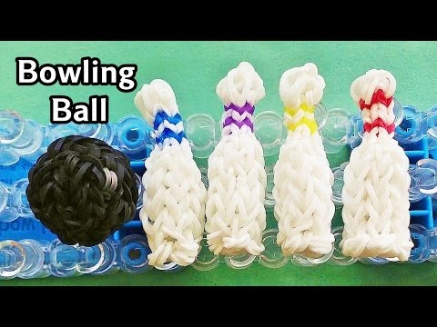 Rainbow Loom Charms: 3D Bowling Ball with loom bands | How to Make
