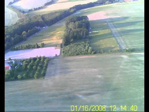 Zlín-Štípa a okolí pohled z RC letadla