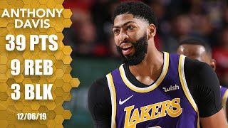 Anthony Davis explodes for 39 points in Lakers vs. Blazers | 2019-20 NBA Highlights