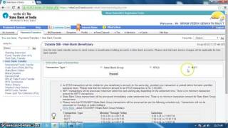 How To Make A NEFT Tranaction In Online free in SBI  in free youtube video tutorial