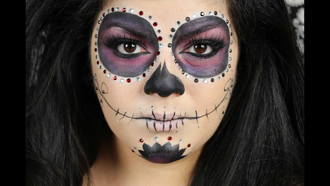Sugar Skull Makeup Tutorial Halloween