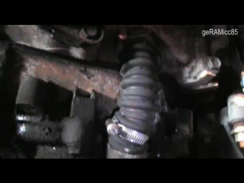 BYPASS HOSE INSTALL DODGE RAM   COOLANT DRAIN   A/C COMPRESSOR   ALTERNATOR   RADIATOR   REPLACE