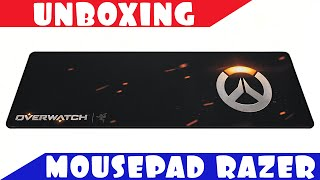 UNBOXING MOUSEPAD RAZER GOLIATHUS SPEED OVERWATCH EM PT-BR