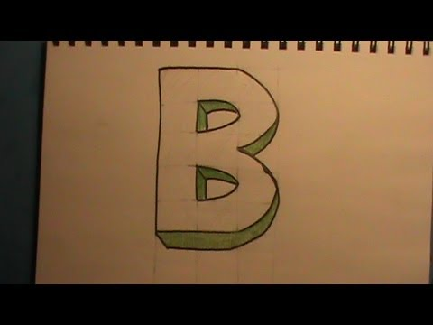 how to draw the letter b