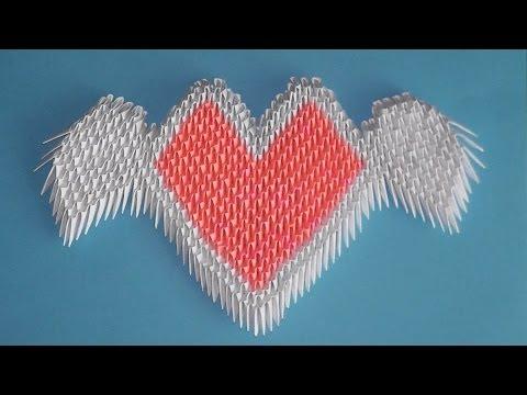 оригами сердце-валентинка