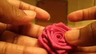 How To Make Ribbon Rose Tutorial #1.wmv