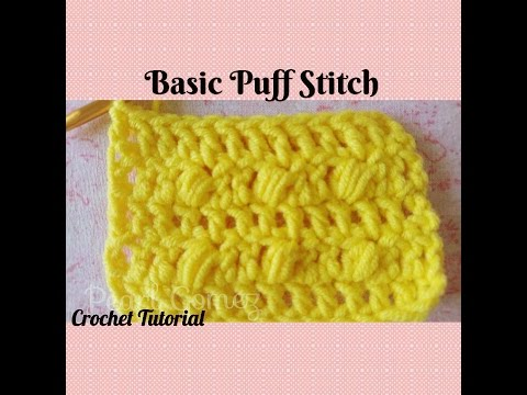 Crochet Made Easy - How to make a Puff Stitch (Crochet Basics) ♥ Pearl Gomez ♥