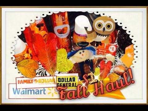 $1 Fall Haul! Dollar General, Walmart, & Family Dollar $1 decor!
