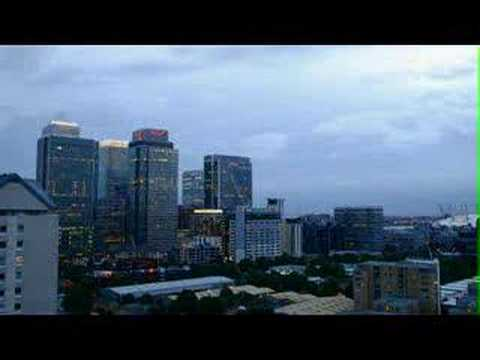 Canary Wharf Night time time lapse Video