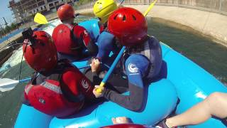 Second lap at the welsh white water rafting center