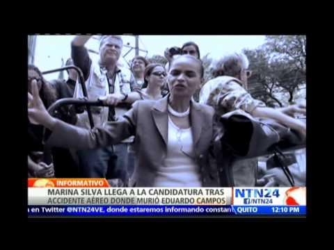 Marina Silva de aspirante a la vicepresidencia a ocupar la candidatura de Eduardo campos