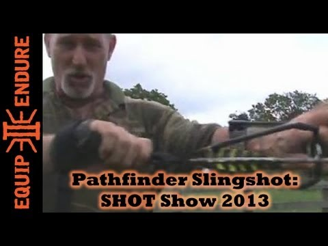 Pathfinder LLC Dave Canterbury Pocket Hunter Slingshot System Shot Show 2013