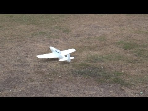 Mini RC P51 warbird by Lanyu Hobby Test flight