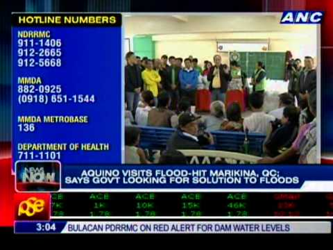 Pres. Aquino visits flood-hit areas for a 2nd day
