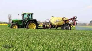 Wheat Spraying: John Deere 6310 + Hardi Ranger 2500, John Deere 6620 SE