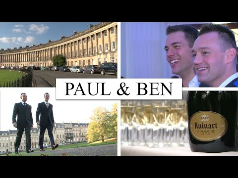 Gay Wedding at Royal Crescent Hotel & Roman Baths | Bloomsbury Films ®