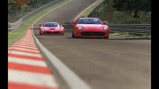 Battle Ferrari 812 Superfast vs Ferrari LaFerrari at Nurburgring-Nordschleife