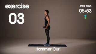 10 min Bicep and Tricep Toning - Level 2 - HIIT - 30s/20s