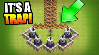 HARDEST TROLL BASE EVER!? 🔥 Clash Of Clans 🔥 MINI GAME BASE!