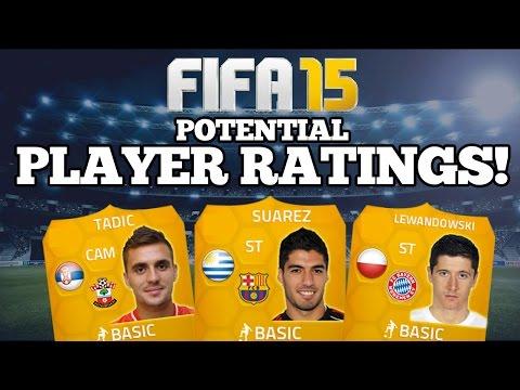 FIFA 15 POTENTIAL PLAYER RATINGS!! BARCELONA SUAREZ! BAYERN MUNCHEN LEWANDOWSKI + SOUTHAMPTON TADIC!