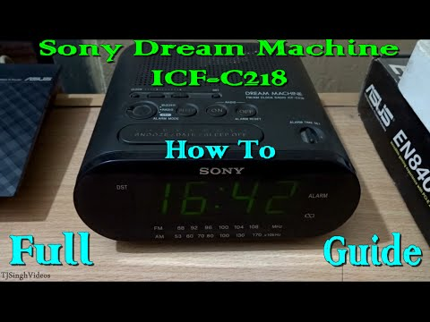 User manual sony dream machine icf-c218