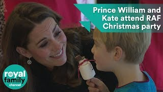 Prince William and Kate laugh with kids at Christmas party