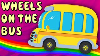 Wheels On The Bus Go Round And Round | Nursery Rhyme for Children