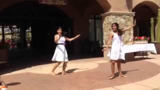 Mayari and Sarika dance at Sampda babyshower